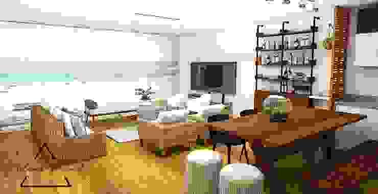 Ruang Keluarga Modern Oleh Farach Interior Design Modern Chipboard