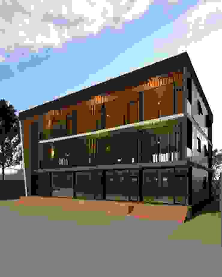 Casas modernas: Ideas, imágenes y decoración de บริษัท พี นัมเบอร์วัน ดีไซน์ แอนด์ คอนสตรัคชั่น จำกัด Moderno