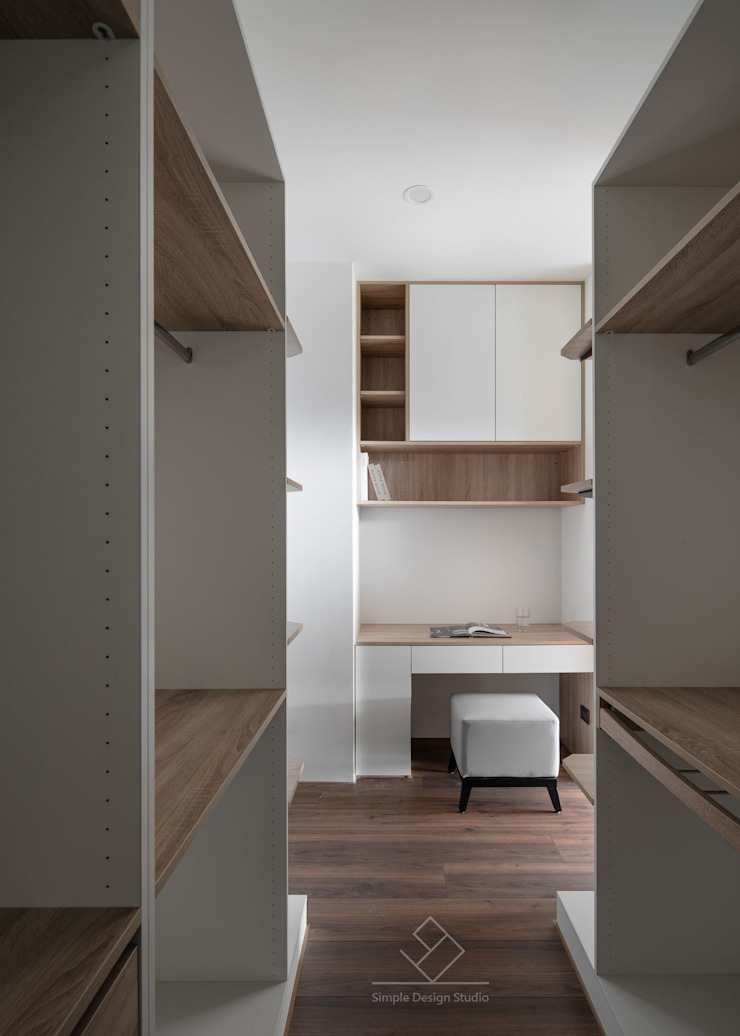 更衣室 根據 極簡室內設計 Simple Design Studio 日式風、東方風