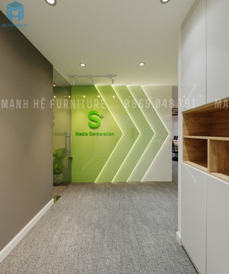 Hành lang văn phòng Hành lang, sảnh & cầu thang phong cách hiện đại bởi Công ty TNHH Nội Thất Mạnh Hệ Hiện đại