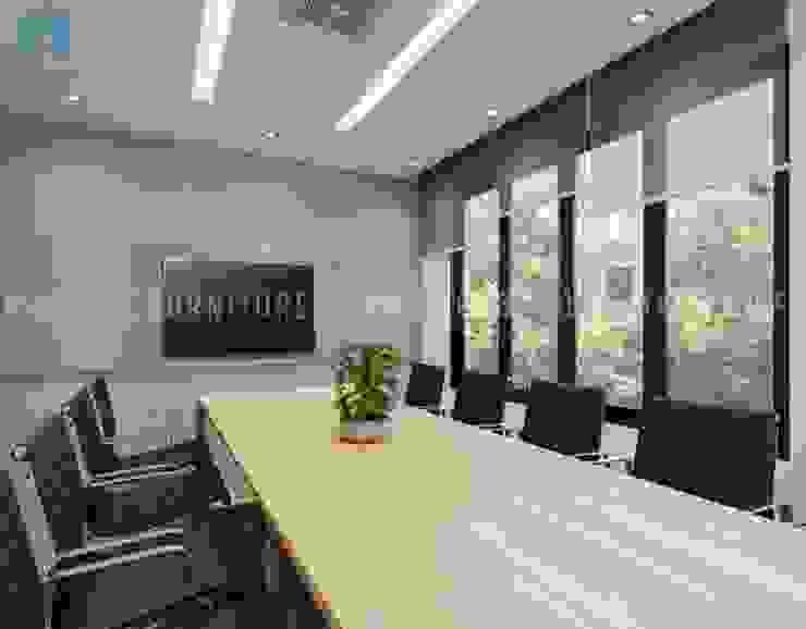 Nội thất phòng họp lớn khá hiện đại và sang trọng Phòng học/văn phòng phong cách hiện đại bởi Công ty TNHH Nội Thất Mạnh Hệ Hiện đại