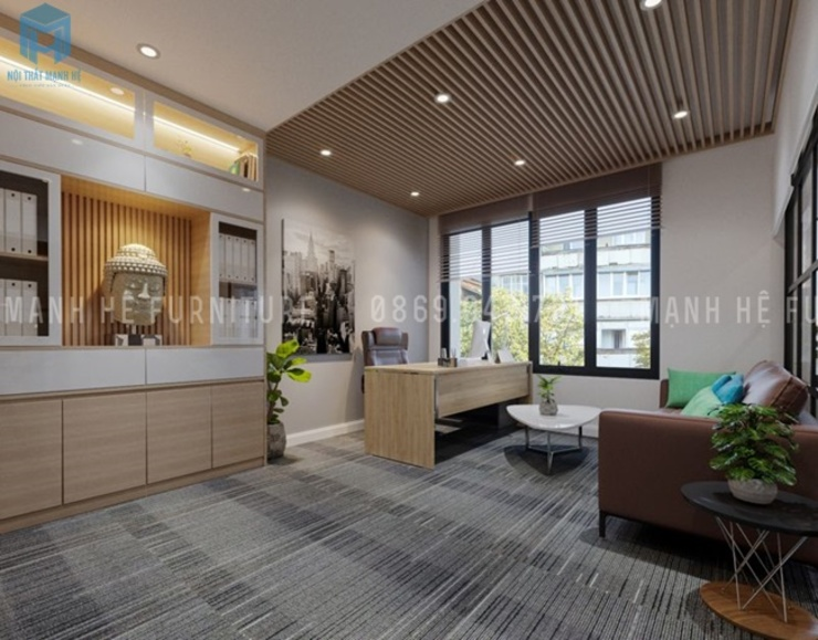 Nội thất phòng lãnh đạo Phòng học/văn phòng phong cách hiện đại bởi Công ty TNHH Nội Thất Mạnh Hệ Hiện đại