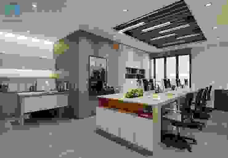Không gian phòng làm việc rộng rãi và thoáng đãng Phòng học/văn phòng phong cách hiện đại bởi Công ty TNHH Nội Thất Mạnh Hệ Hiện đại