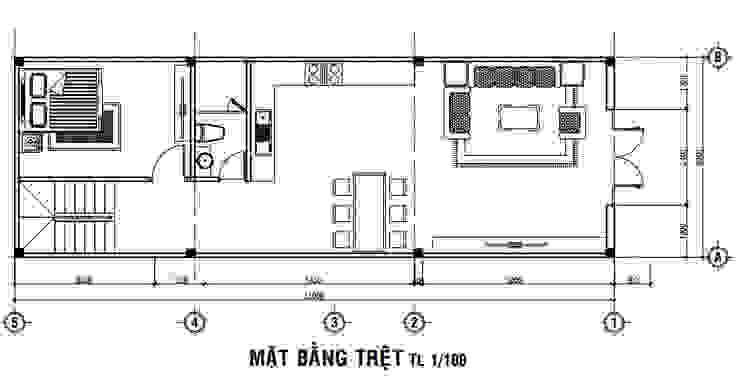 Edifícios comerciais modernos por Công ty Thiết Kế Xây Dựng Song Phát Moderno