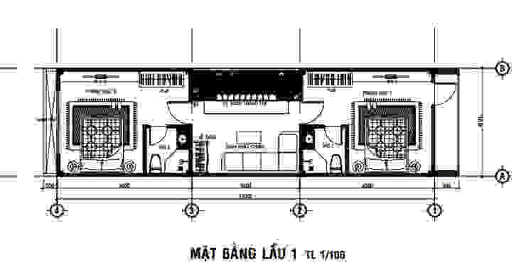 Офисные помещения в стиле модерн от Công ty Thiết Kế Xây Dựng Song Phát Модерн