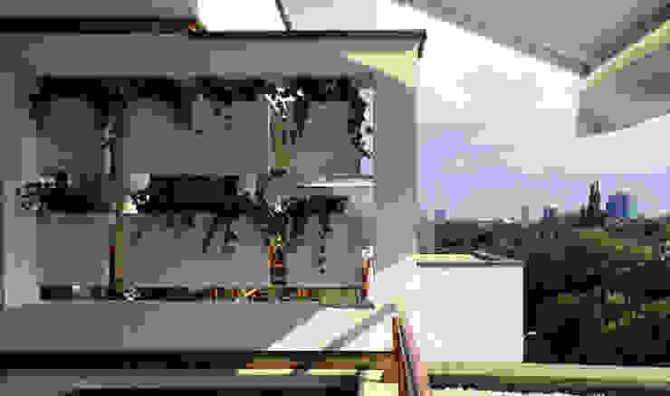 Systemclip by Serastone Balkon, Beranda & Teras Minimalis Kayu White
