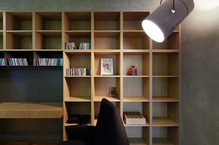 辦公書房的牆面也有強大的收納功能 根據 直方設計有限公司 工業風