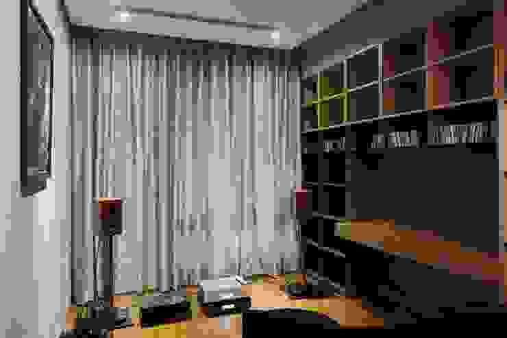 可以收納屋主的音樂收藏 根據 直方設計有限公司 工業風