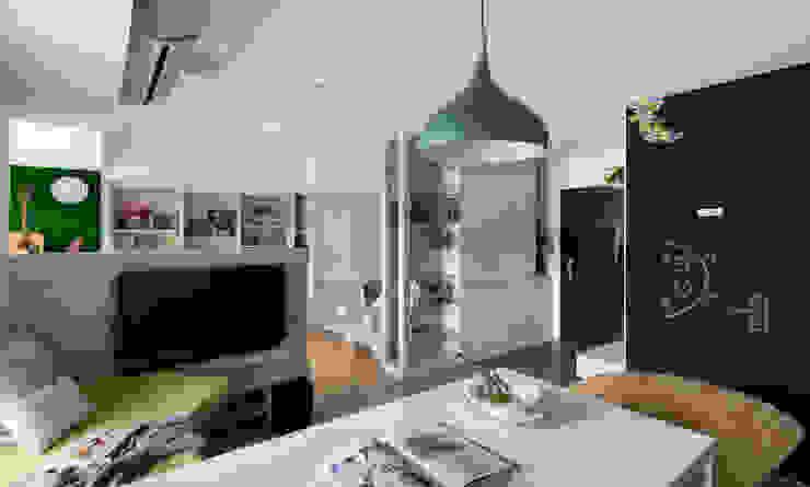 客廳 根據 邑田空間設計 隨意取材風
