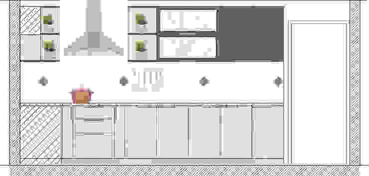 Cocina Bosques de Montemar, Concon de Estudio Arquitectura y construccion PR/ Remodelaciones y Diseño de interiores / Santiago, Rancagua y Viña del mar