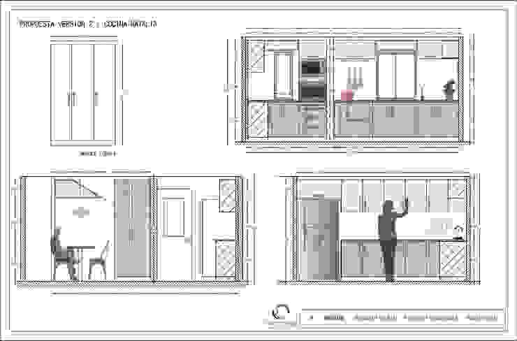 Cocina Puente alto de Estudio Arquitectura y construccion PR/ Remodelaciones y Diseño de interiores / Santiago, Rancagua y Viña del mar