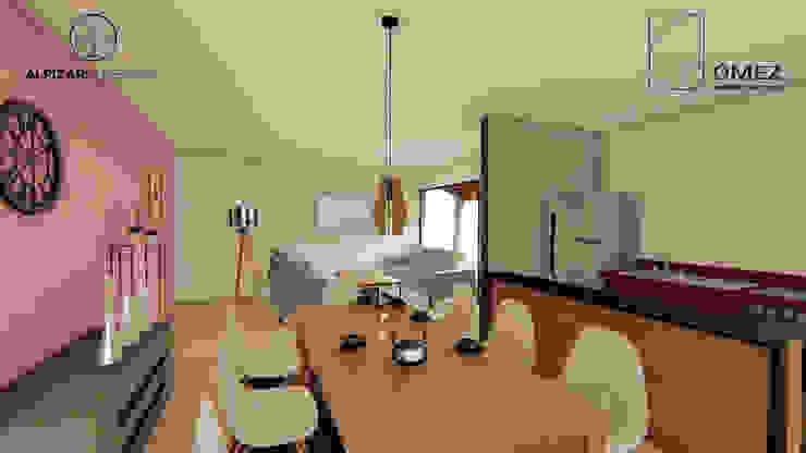 casa habitación interés social: Comedores de estilo  por GóMEZ arquitectos, Rústico