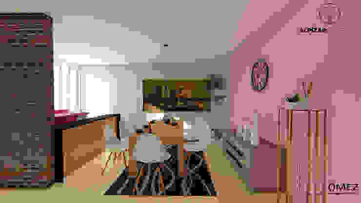 GóMEZ arquitectos Rustic style dining room