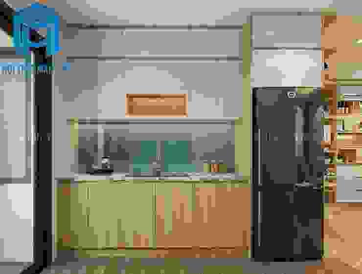Nội thất phòng bếp tuy đơn giản nhưng lại được trang bị đầy đủ các trang thiết bị cần thiết Nhà bếp phong cách hiện đại bởi Công ty TNHH Nội Thất Mạnh Hệ Hiện đại