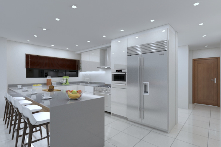 L-shape Kitchen view 2 by Linken Designs