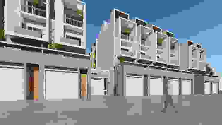 理境 臨路戶及社區入口 現代房屋設計點子、靈感 & 圖片 根據 尋樸建築師事務所 現代風