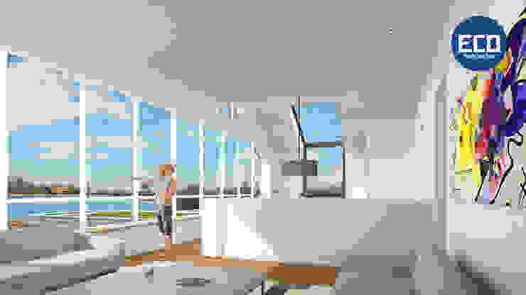 ECO architecten Salas de estilo moderno