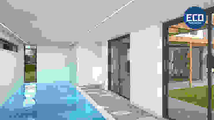 ECO architecten Piscinas de estilo moderno