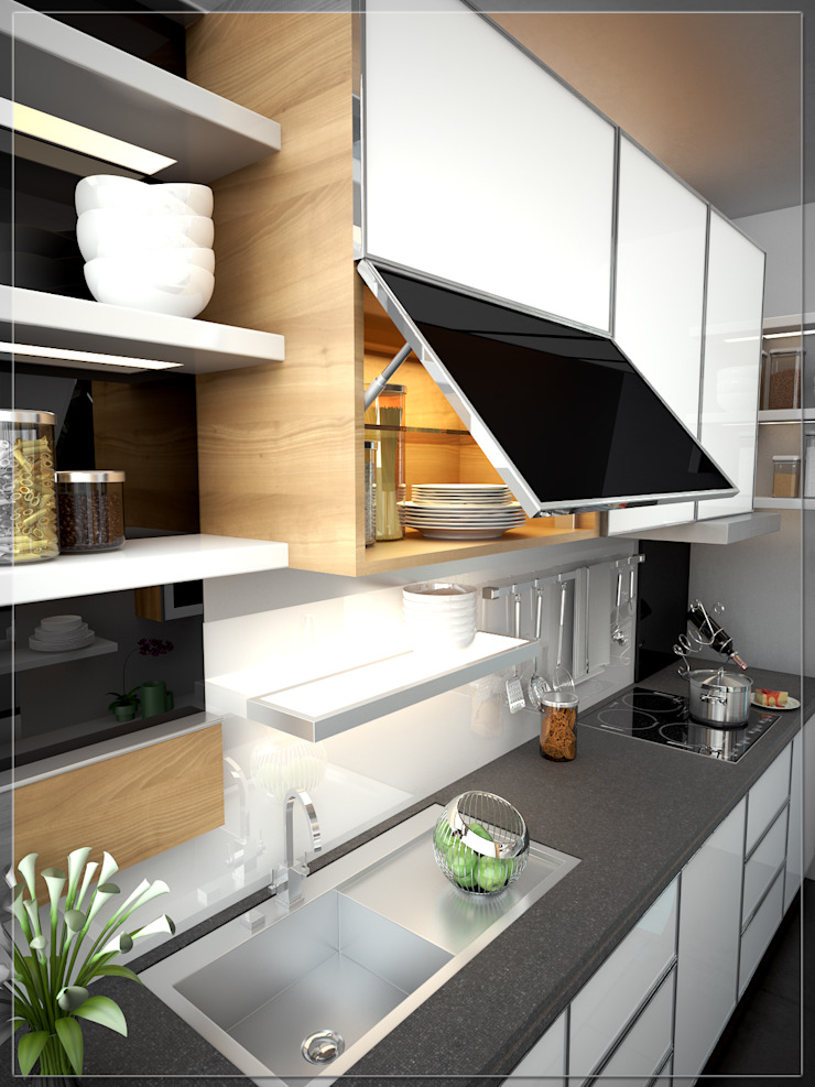 Modern style kitchen by Ectic Modern