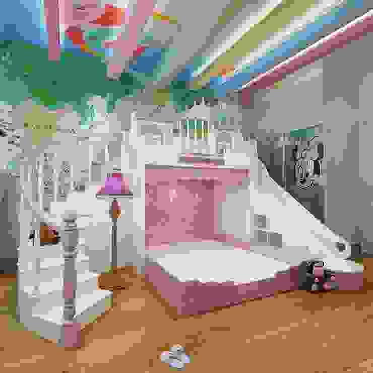 Giường lâu đài công chúa dành cho bé gái GTE056 bởi Xưởng nội thất Thanh Hải