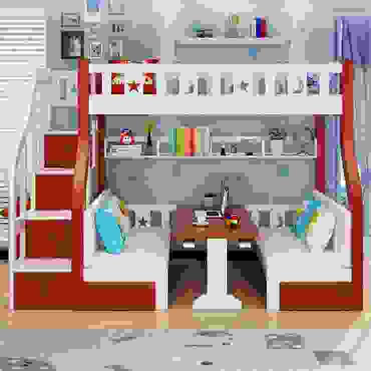 Giường tầng đa năng thông minh GTE044 bởi Xưởng nội thất Thanh Hải