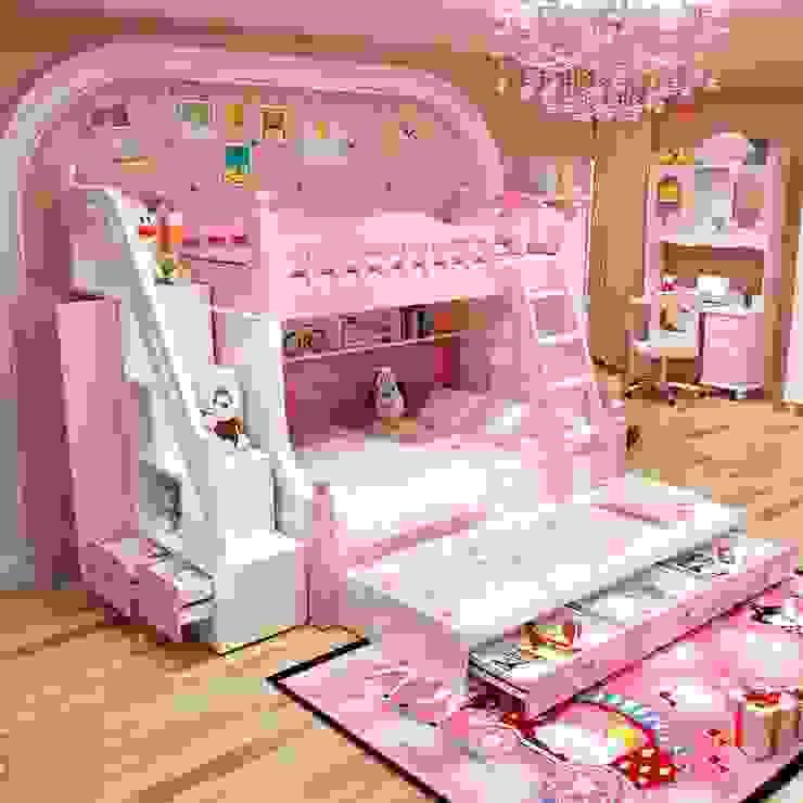 Giường tầng đa năng thông minh có giường phụ GTE044 bởi Xưởng nội thất Thanh Hải