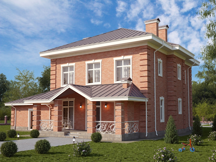 Дарли-2_273 кв.м: Дома в . Автор – Vesco Construction, Классический