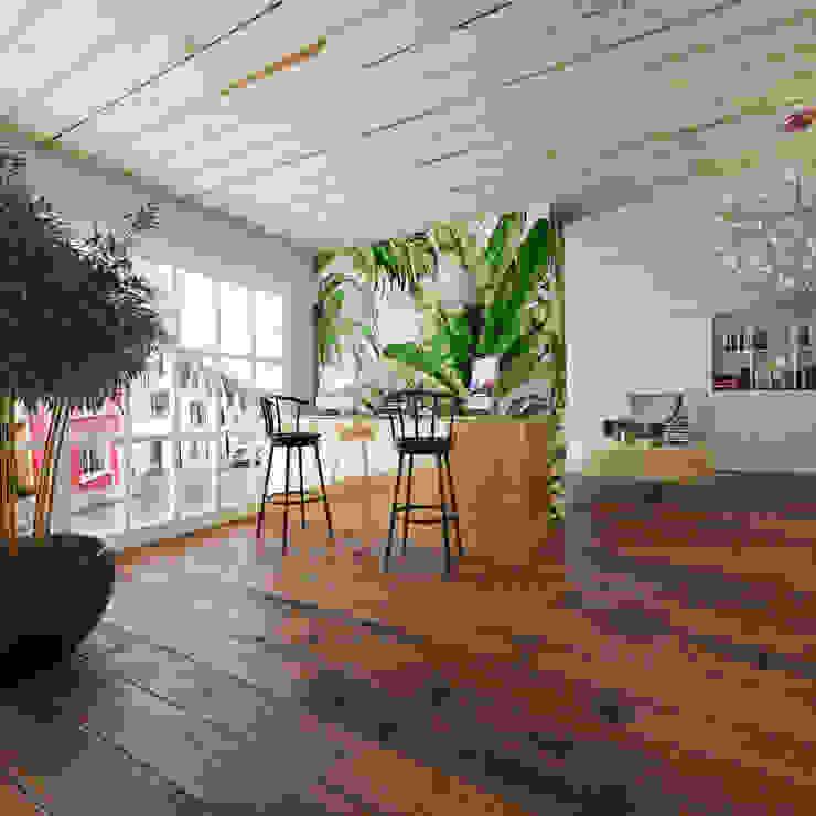 Lounge Room Tasarımı - Mersin Rengin Mimarlık Minimalist Çalışma Odası
