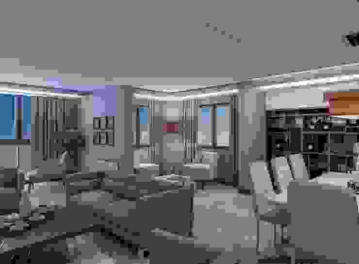 Sohbet köşesi Modern Oturma Odası ANTE MİMARLIK Modern