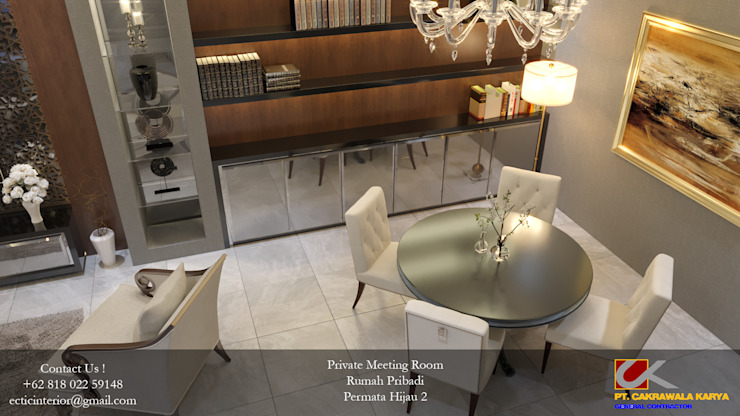 BJB – Permata Hijau Ruang Studi/Kantor Modern Oleh Ectic Modern