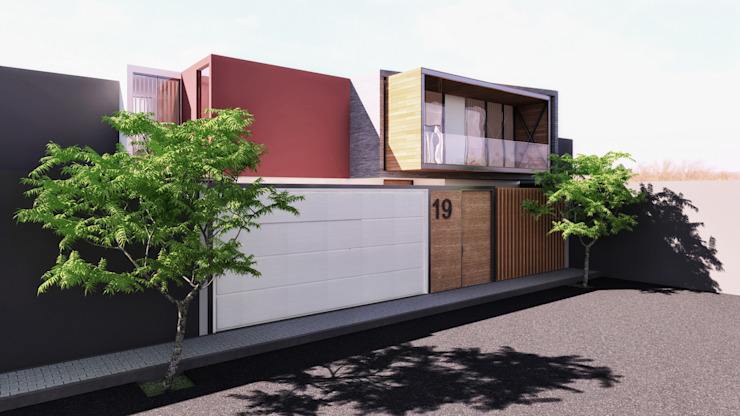 CASA ARICA - CHILE: Casas de estilo  por TECTONICA STUDIO SAC, Moderno