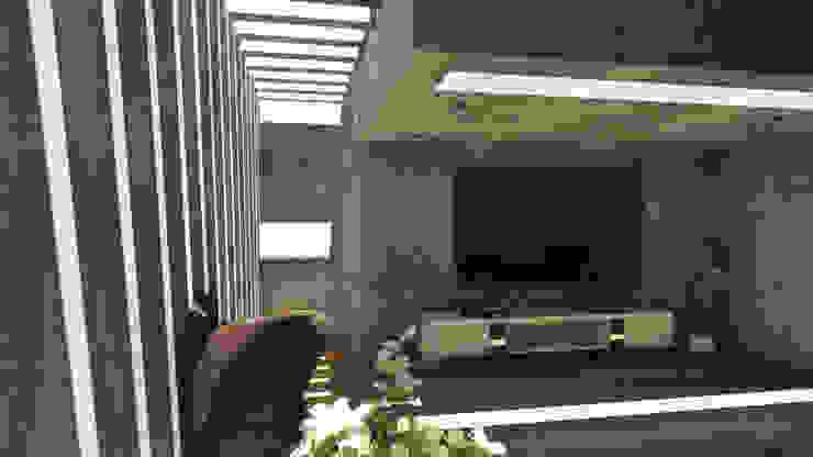 CASA ARICA – CHILE Salas modernas de TECTONICA STUDIO SAC Moderno