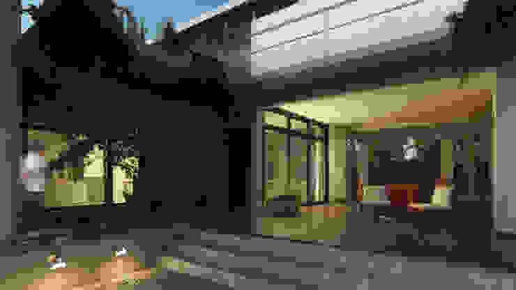 od Rr+a bureau de arquitectos - La Plata Nowoczesny Cegły