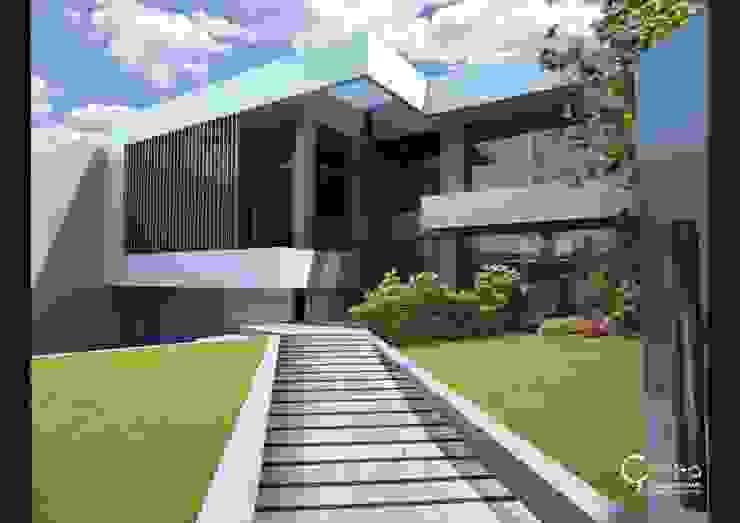 Casas modernas por Rr+a bureau de arquitectos - La Plata Moderno Tijolo