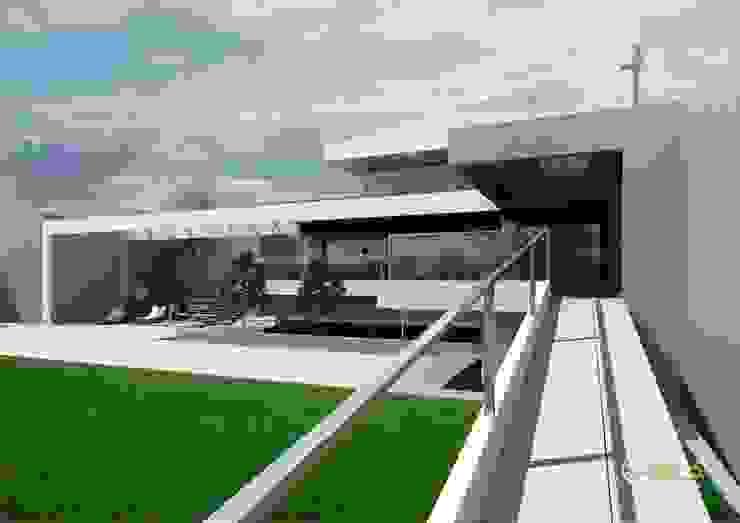 por Rr+a bureau de arquitectos - La Plata Moderno Tijolo