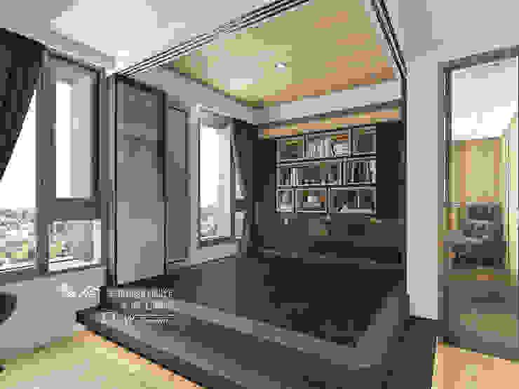 和室/臥室/書房/架高木地板/鋁框拉門 根據 homify 現代風