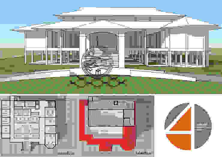 อาคารเทศบาลหาดเล็ก จังหวัดตราด: คลาสสิก  โดย OSMOSIS Architectural Design, คลาสสิค