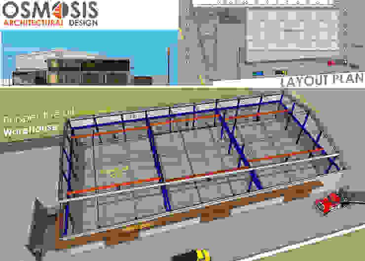 Chalothornsteel Office & Warehouse: ด้านอุตสาหกรรม  โดย OSMOSIS Architectural Design, อินดัสเตรียล