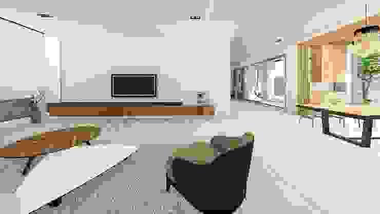 客廳-1 Modern Living Room by 尋樸建築師事務所 Modern
