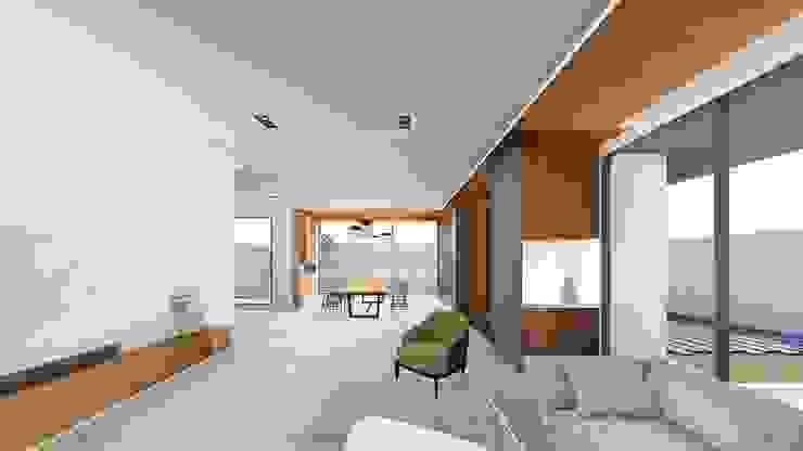 Hành lang, sảnh & cầu thang phong cách hiện đại bởi 尋樸建築師事務所 Hiện đại