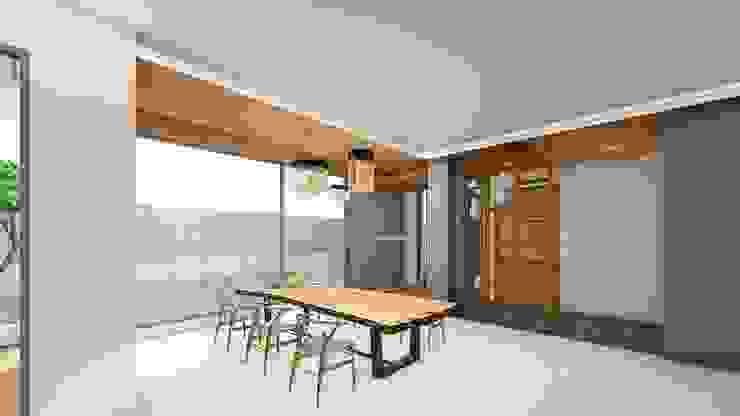 泡茶區 Modern Corridor, Hallway and Staircase by 尋樸建築師事務所 Modern