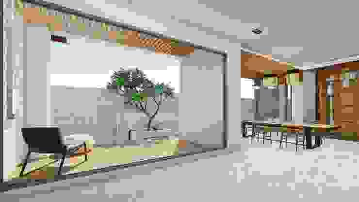 半戶外露臺-1 Modern Terrace by 尋樸建築師事務所 Modern