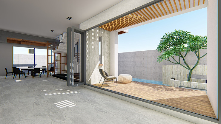 Hiên, sân thượng phong cách hiện đại bởi 尋樸建築師事務所 Hiện đại