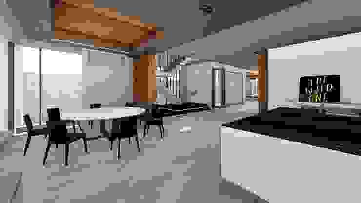 餐廳與主樓梯-2 Modern Dining Room by 尋樸建築師事務所 Modern