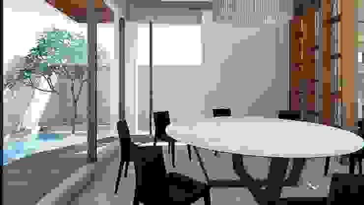 餐廳與戶外水池 Modern Dining Room by 尋樸建築師事務所 Modern