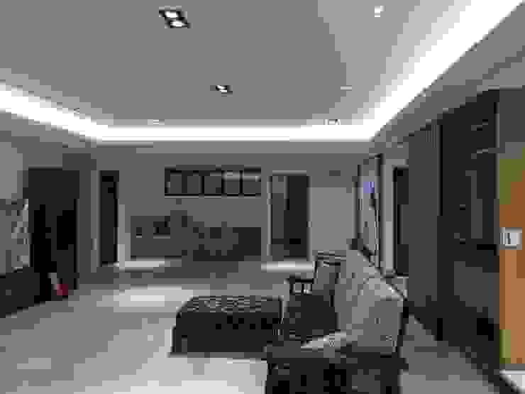集合住宅-2 现代客厅設計點子、靈感 & 圖片 根據 houseda 現代風 木頭 Wood effect