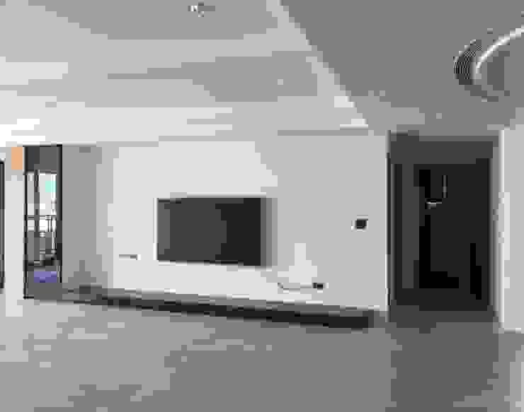 集合住宅-3 现代客厅設計點子、靈感 & 圖片 根據 houseda 現代風 大理石