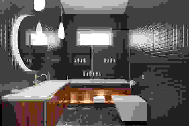 PRODİJİ DİZAYN – VILLA KEMALPAŞA:  tarz Banyo, Rustik