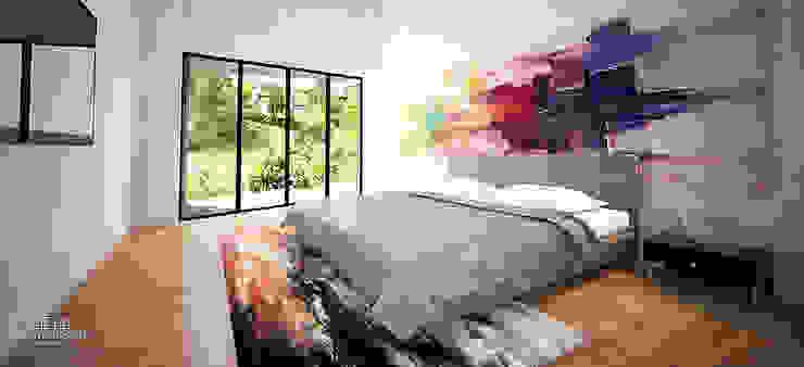 Small bedroom by Andrés Hincapíe Arquitectos  A H A, Modern Concrete