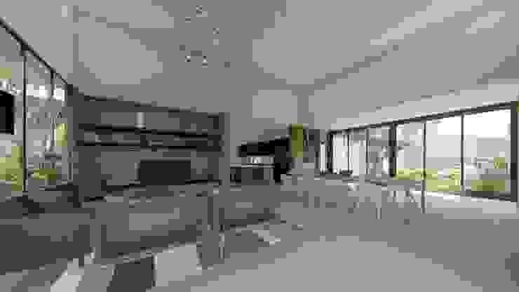 Casa Arboleda Salones modernos de EMERGENTE | Arquitectura Moderno